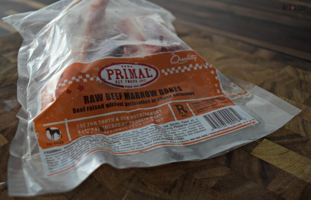 MyDogLikes reviews Primal marrow bones. These are considered recreational bones and should not be completely consumed.