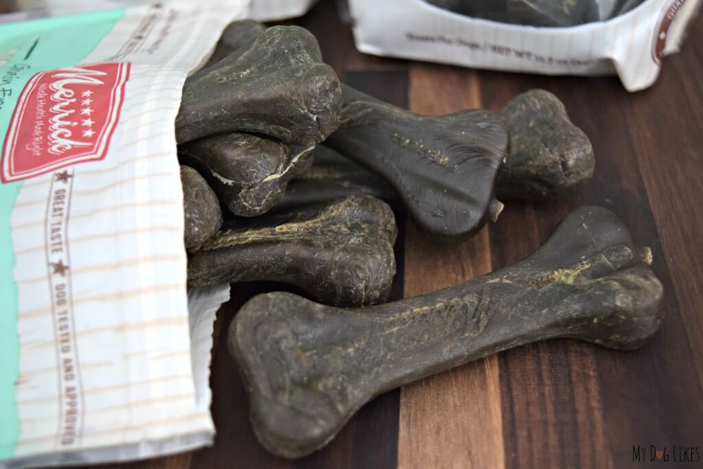 Merrick's Big Brush Bone Dog Chews are a great way to promote dental health in your dog!