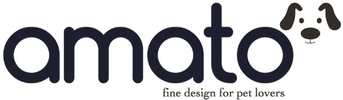 The logo for Amato Pet - an online pet store focusing in finely made and durable dog products.