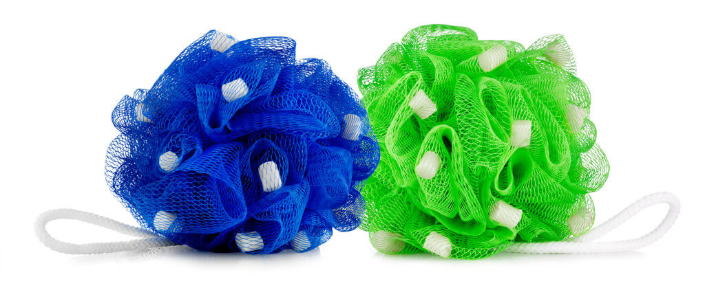 The Absorbine Woof Pouf is a bath loofah with soap beads built right in! This product makes dog baths a breeze!
