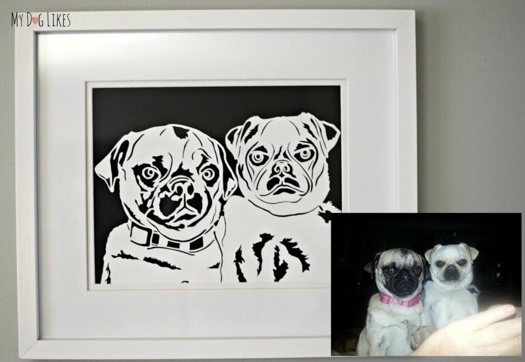 Looking for a unique piece of dog wall art? How about one of these personalized paper cut portraits?