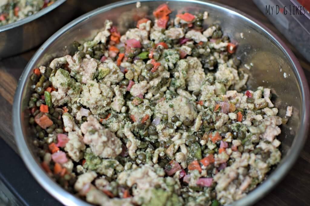 Easy homemade dog food recipe from MyDogLikes!