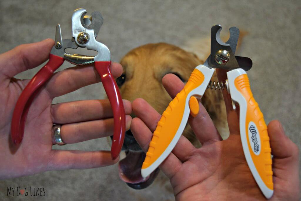 These professional dog nail clippers have an ergonomic handle for comfortable use