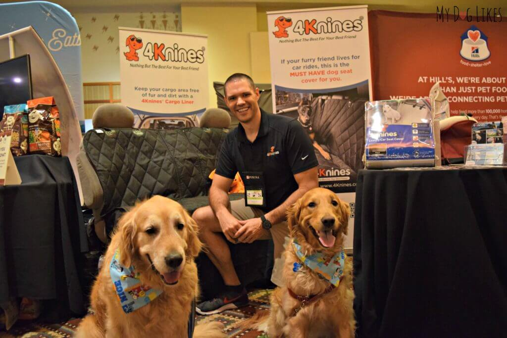 Posing with Jim from 4Knines - one of our dog friendly road trip sponsors!
