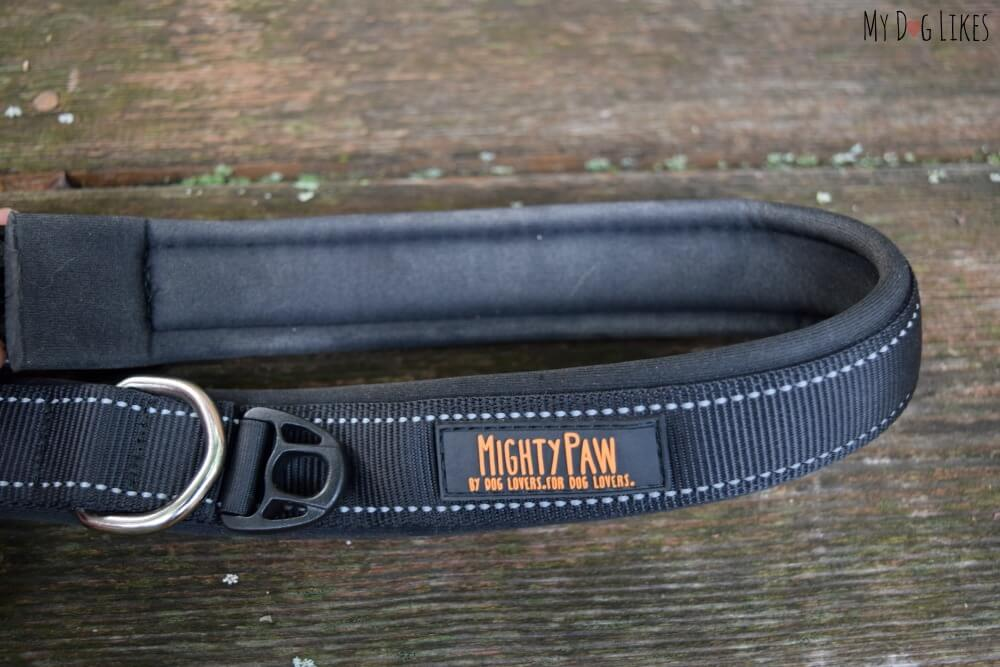 Padded dog collar for extra comfort and reduced irritation.