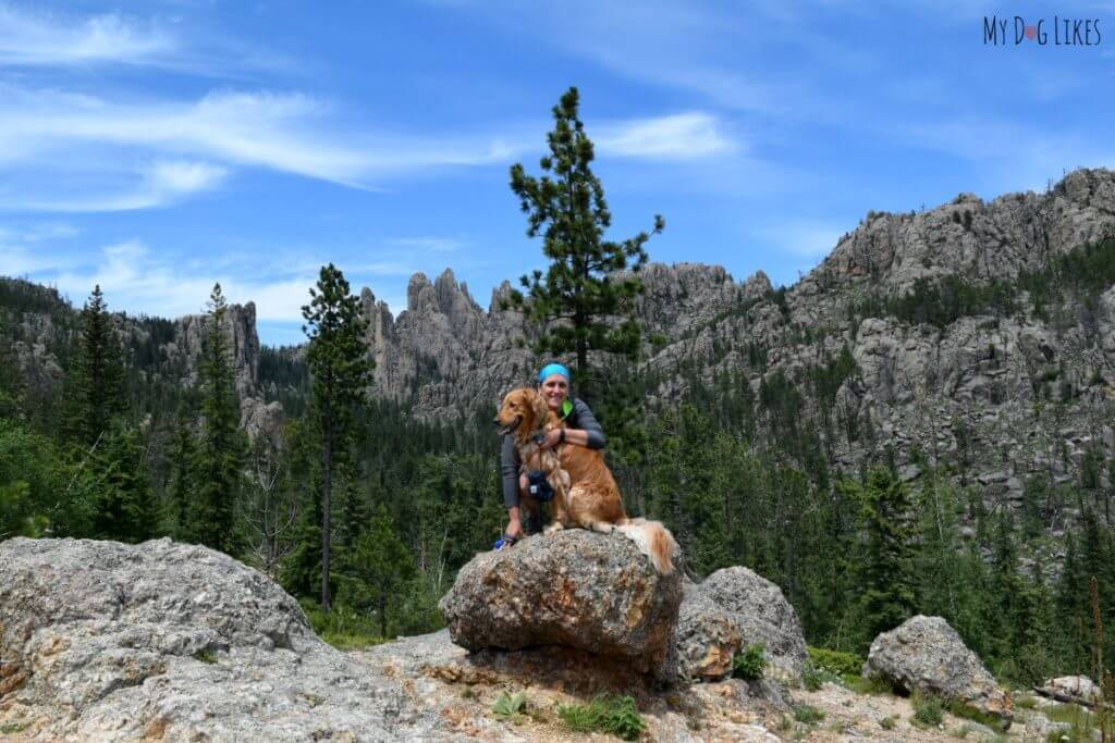Posing along the Needles highway at Custer State Park