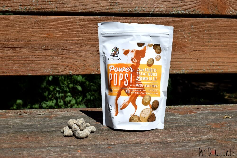 Power Pops Freeze Dried Tripe - Our latest Dr. Harvey's Dog Treats Review