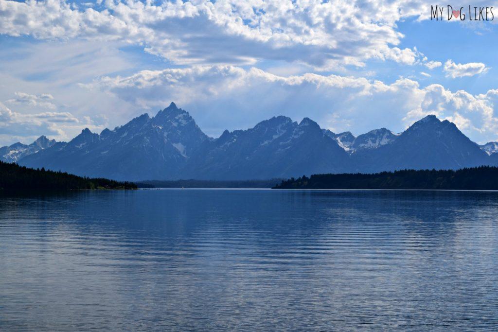 The Teton's reflecting off Jackson Lake