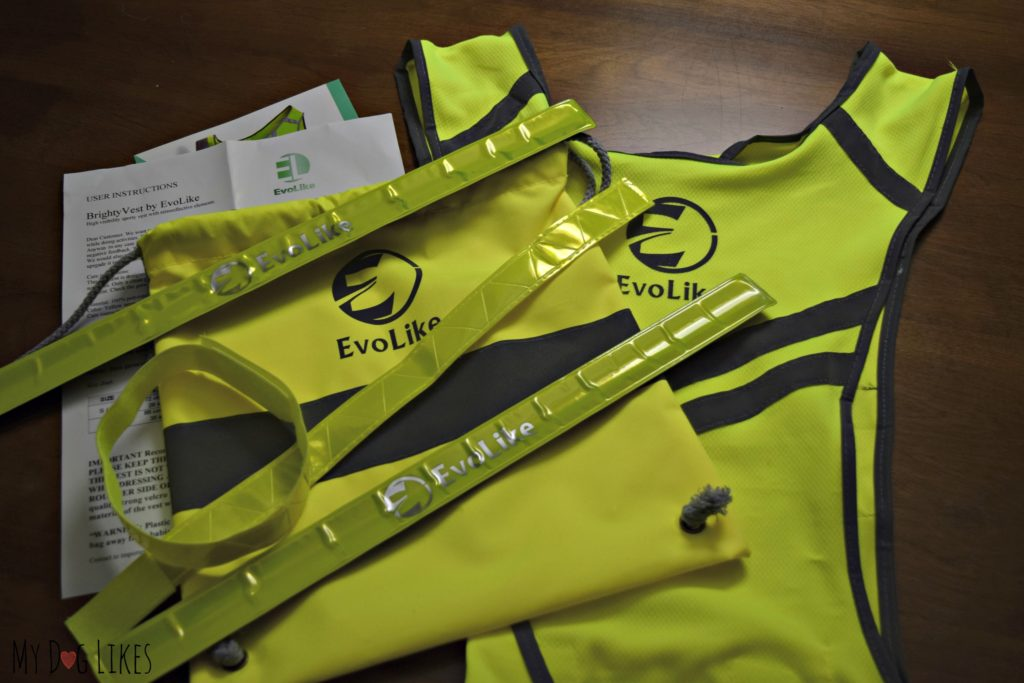Evolike Reflective Gear Set - Vest, bag, and armbands
