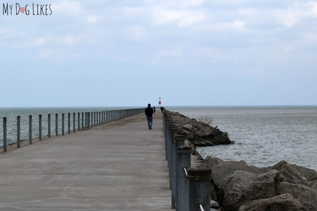 Gazing into Lake Ontario from the Charlotte Pier