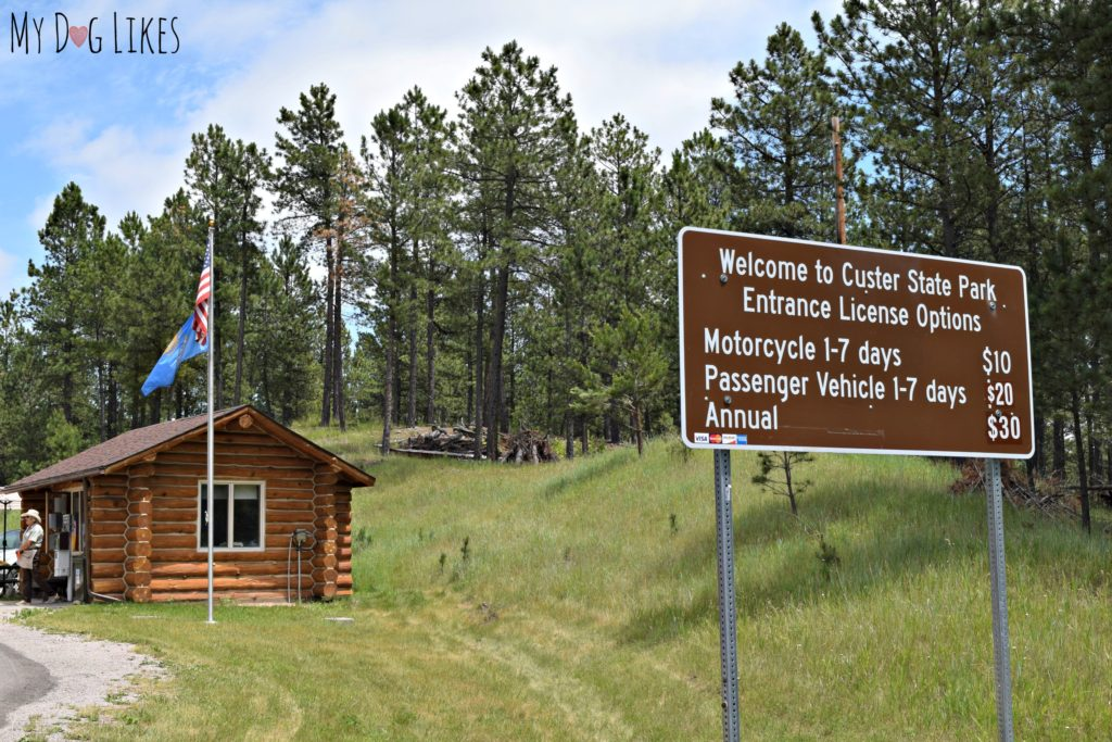 Heading into Custer State Park - 20$ per vehicle