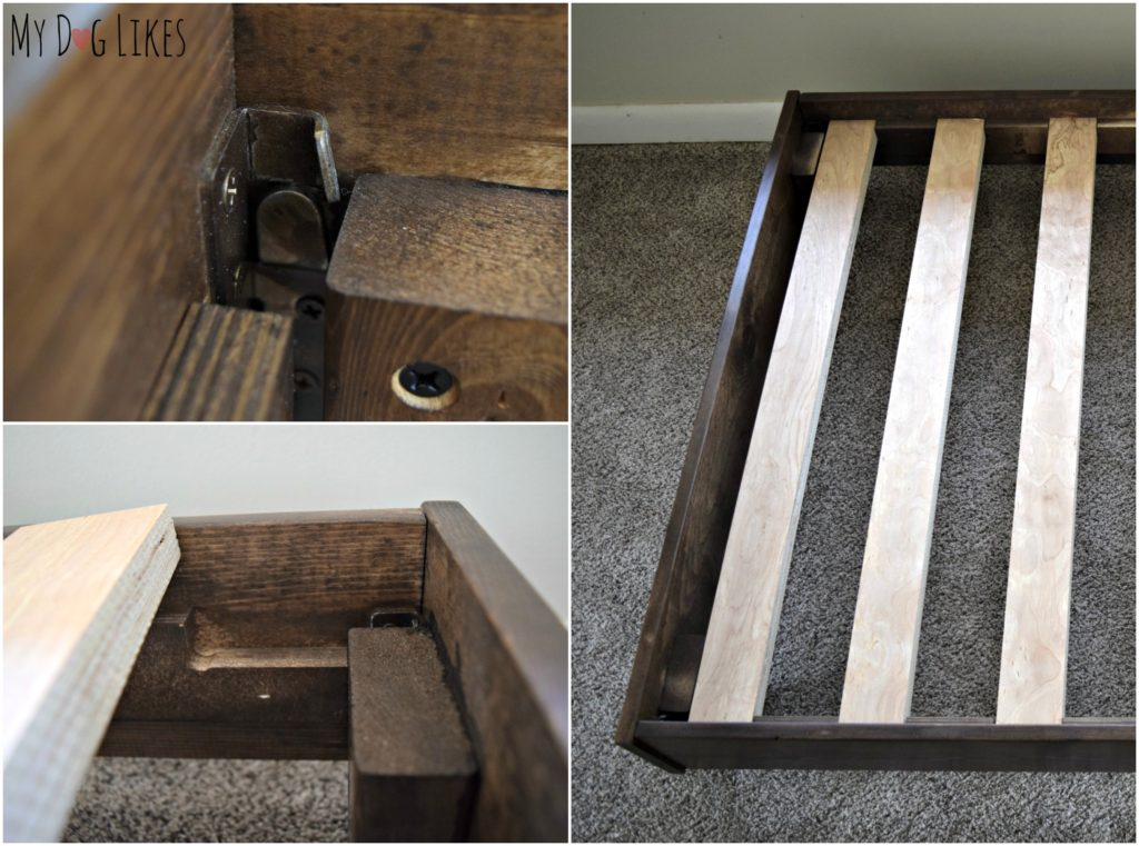 This dog bed frame is simple to assemble and doesn't require any tools whatsoever!