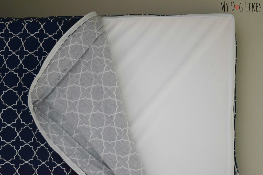 These beds include a waterproof cover to keep your mattress protected.