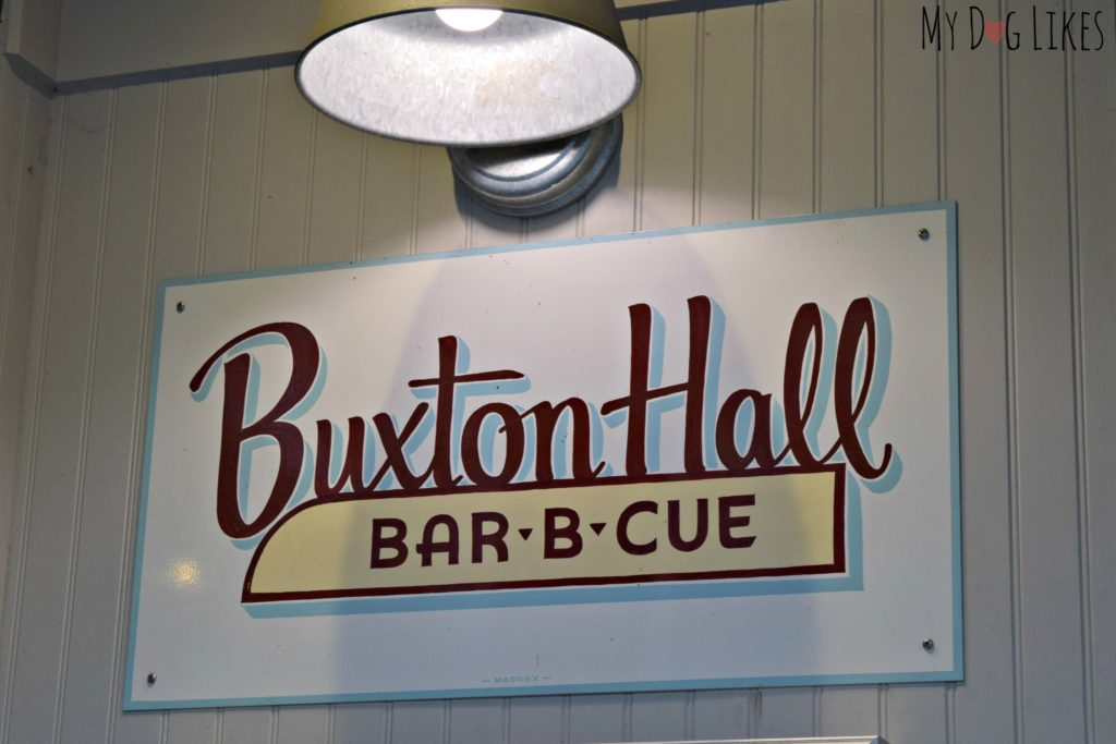 Buxton Hall Bar-B-Cue sits right next door to Catawba Brewing!