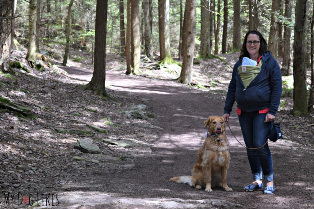 Hiking the flat and well groomed Highland Trail at Rickett's Glen