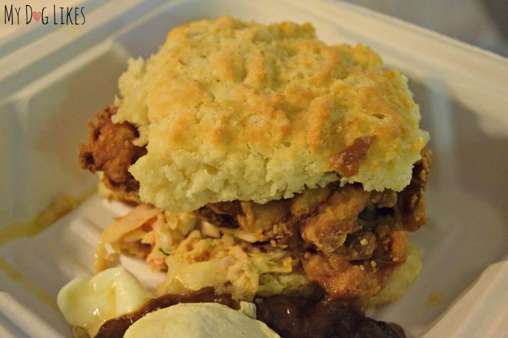 Still drooling over this Mimosa Fried Chicken Biscuit from Biscuit Head!