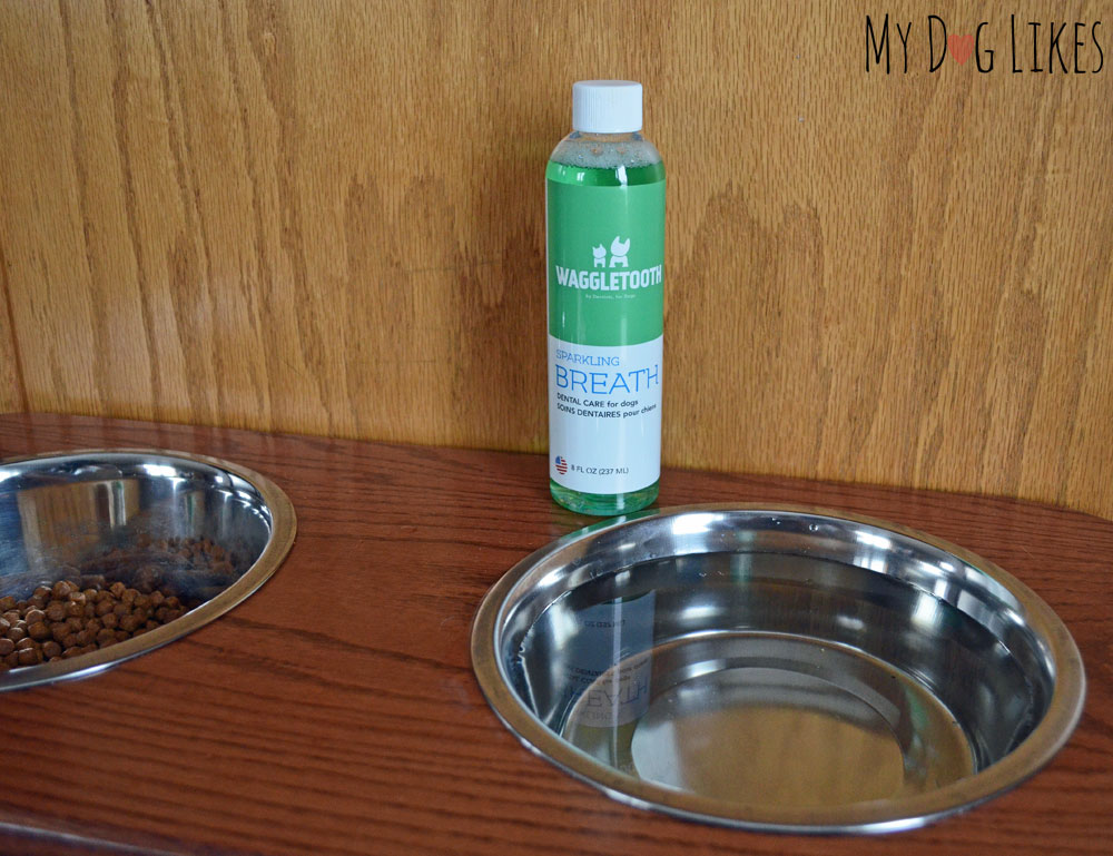 Waggletooth dog water additive for fresh breath