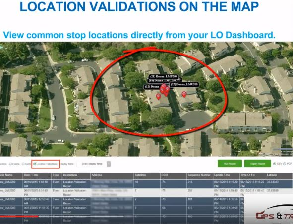 Vehicle tracker address verification