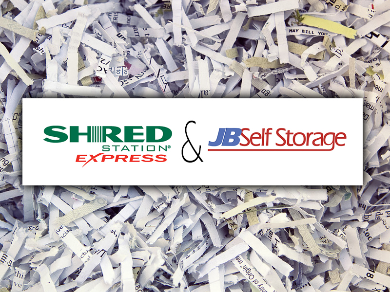 shred station and jb self storage partner ship graphic