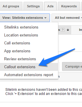 ad extensions step 12