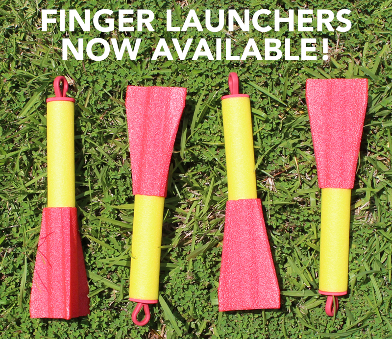 Finger launchers, finger missiles, and foam finger rockets now available.