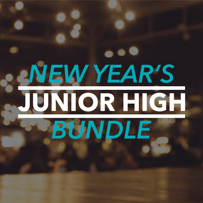 Save 69% on 8 months and $245 worth of junior high ministry lessons for the New Year and beyond!