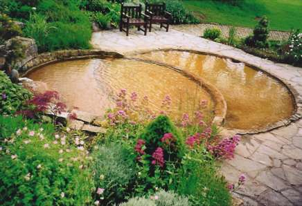 Vesica Pisces pool at Chalice Well