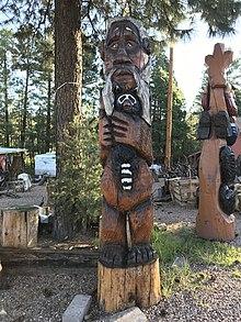 Mogollon wood carving