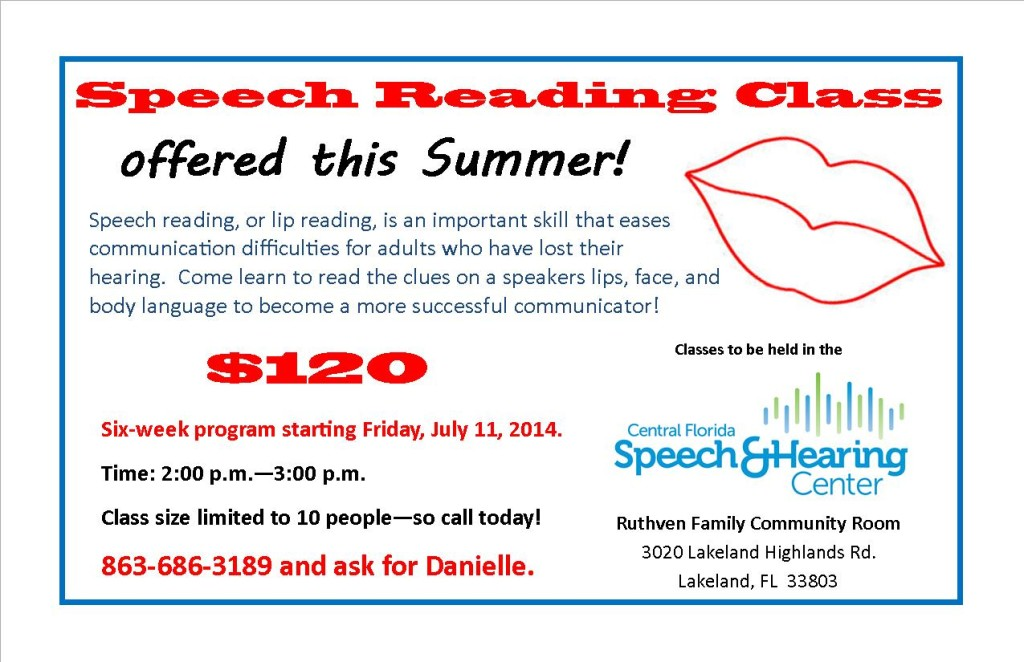 Speech reading flyer single