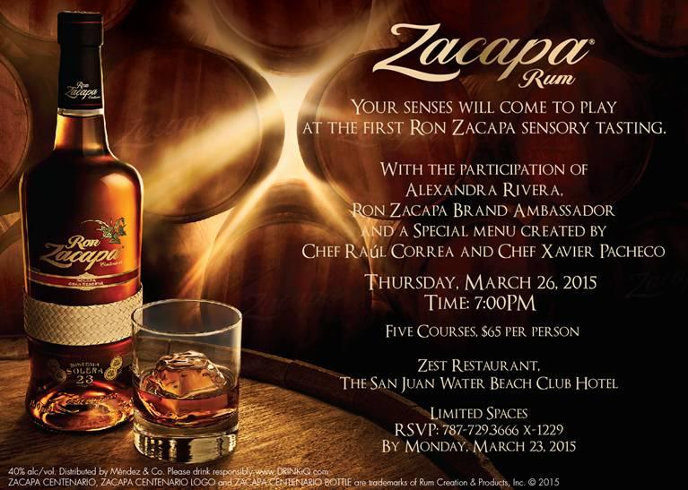Invitación Ron Zacapa Tasting