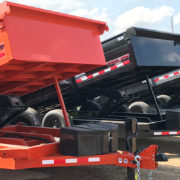Midsota Trailers lined up for sale.