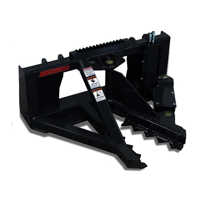 Our Tree Puller skid steer attachment.