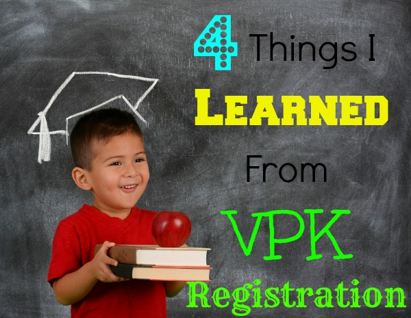 Making Time for Education: 4 Things I Learned From VPK Registration