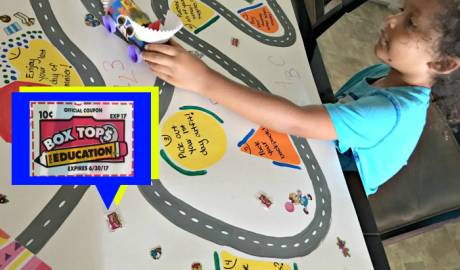7 Day Race to the 1st Day of School Featuring Box Tops for Education