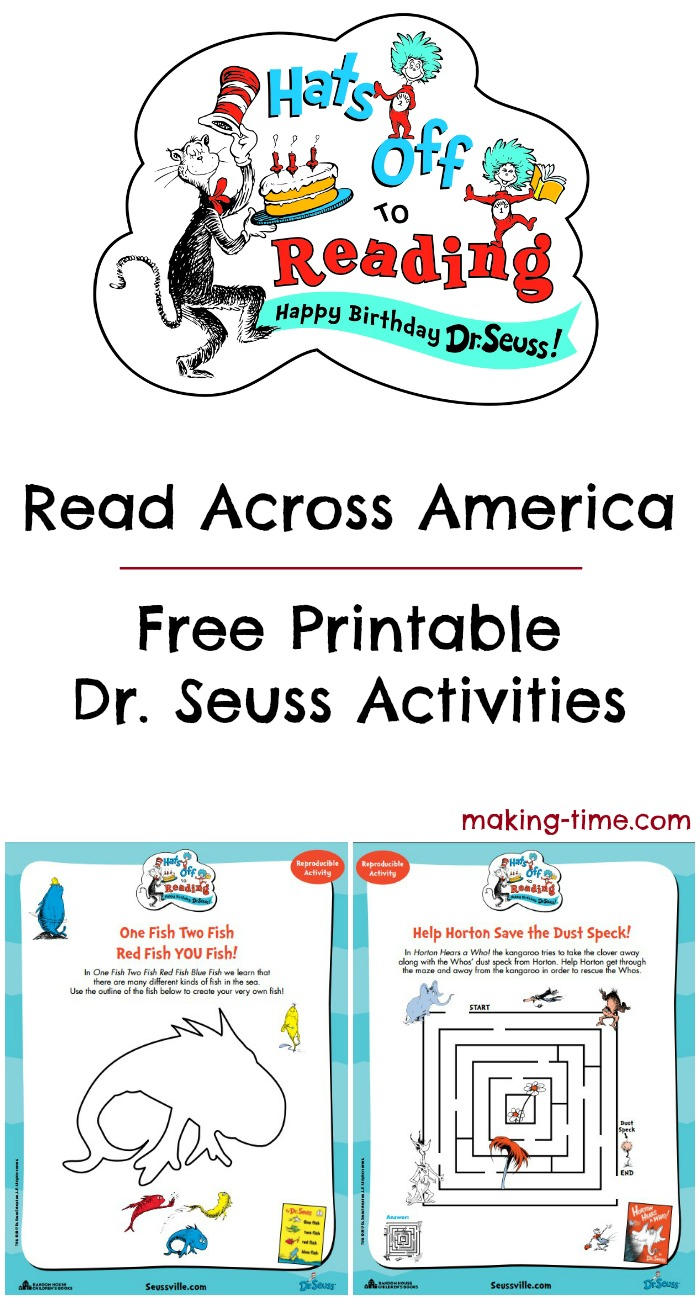 - Read Across America + Free Printable Dr. Seuss Activities - Making
