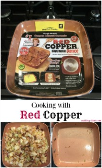 """When we moved, I ditched all of our """"non-stick"""" and """"non-scratch"""" pans because they didn't live up to their claims. That meant we had to get new pans, one of which is the Red Copper Square Dance Pan from BulbHead. So far it has been THE best pan I've ever owned. Read more about it on the blog! @BulbHeadIdeas @Bulbhead #RedCopper"""
