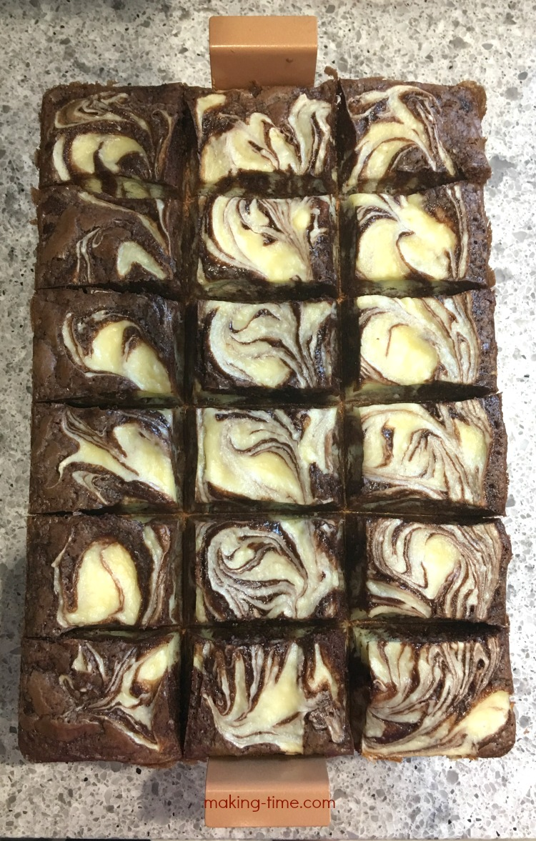 Easy Cream Cheese Marble Brownies + #BrownieBonanza Giveaway