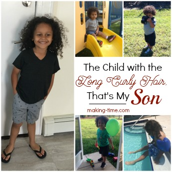The Child with the Long Curly Hair, That's My Son #heisnotagirl #ihaveason