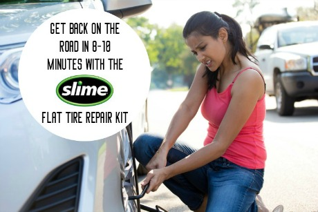 Get Back on the Road in 8-10 Minutes with the Slime Flat Tire Repair Kit | #SlimeTireRepair #flattire