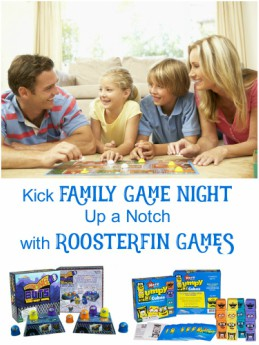 Kick Family Game Night Up a Notch with RoosterFin Games   #RoosterFinGames #familygamenight #HolidayGiftGuide