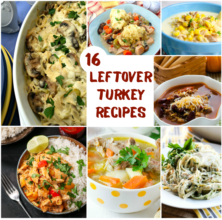 16 Leftover Turkey Recipes | #turkey #recipe #Thanksgiving