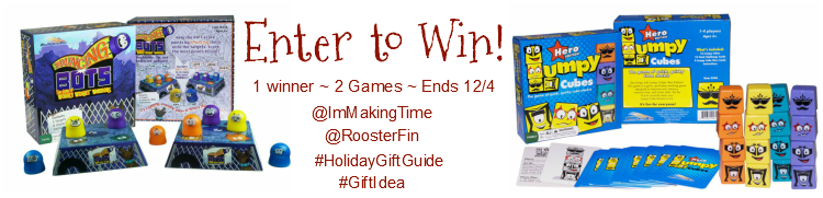 Enter to win the games Bouncing Bots and Lumpy Cubes Hero Edition from RoosterFin Games! | #RoosterFinGames #giftidea #HolidayGiftGuide #giveaway