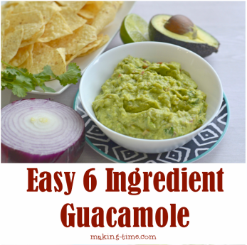 Easy 6 Ingredient Guacamole | #guacamole #recipe #CincoDeMayo