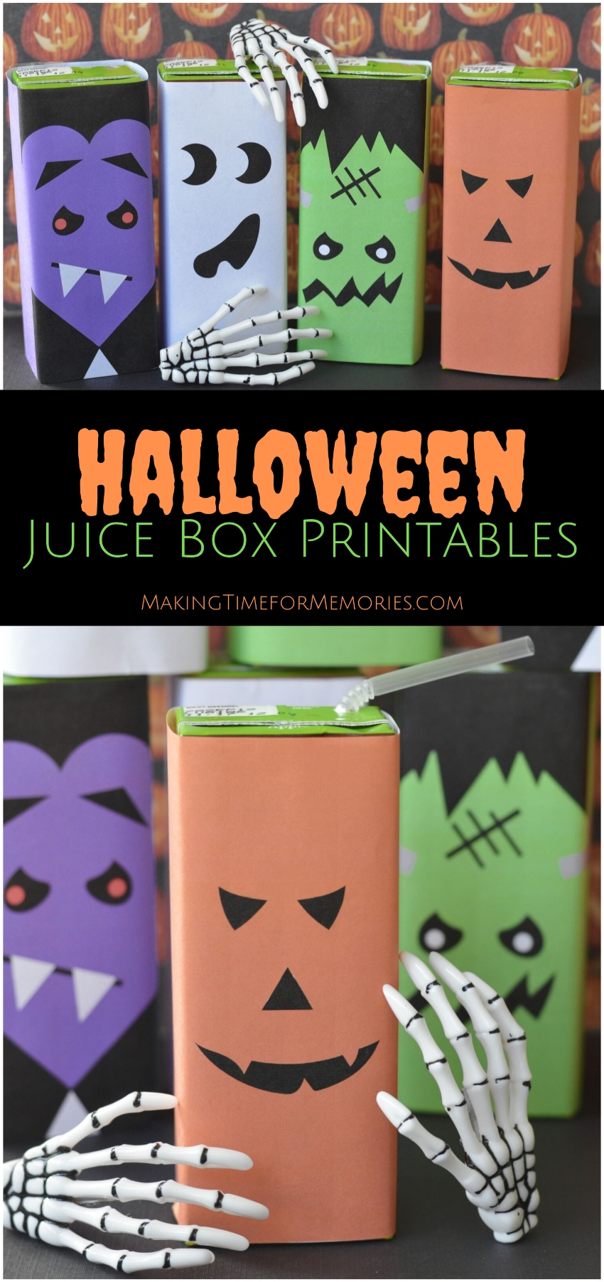 Halloween Juice Box Printables | #Halloween #freeprintable #HalloweenTreat