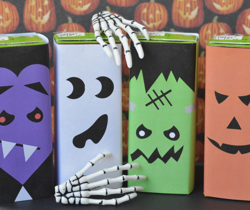 Juice Box Halloween Printables | #Halloween #freeprintable #HalloweenTreat