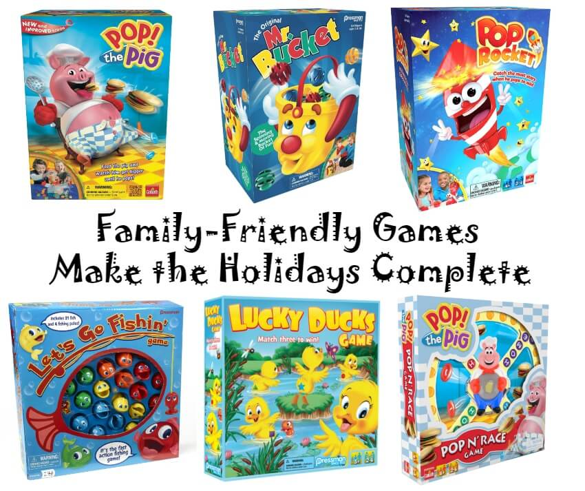 Family-Friendly Games Make the Holidays Complete   #HolidayGiftGuide #giftsforkids #giftideas #PressmanToy #GoliathGames