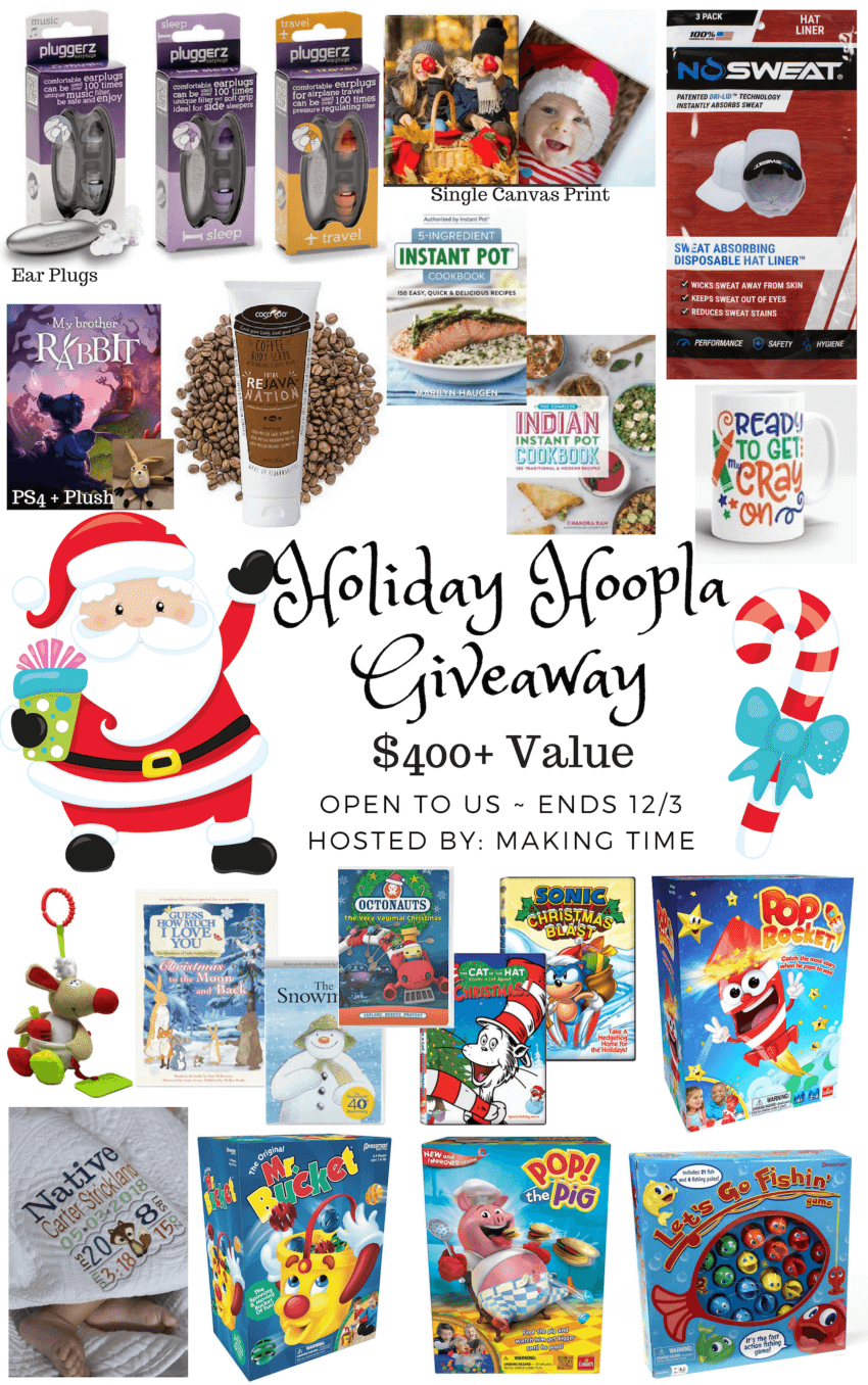 Holiday Hoopla Giveaway | #HolidayGiftGuide #giftideas #giveaway