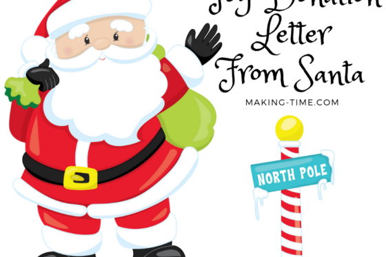 Toy Donation Letter from Santa | #cleanup #toydonation #spiritofgiving #letterfromSanta