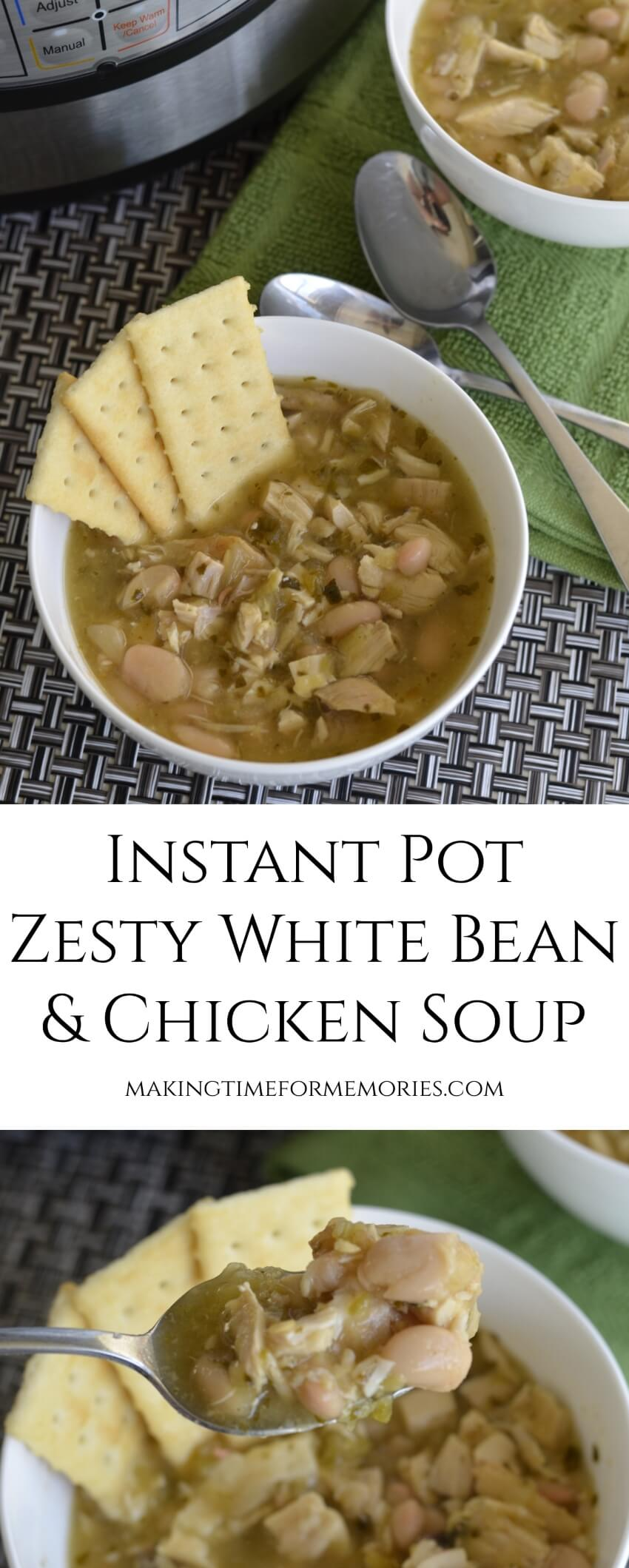 Instant Pot Zesty White Bean & Chicken Soup ~ #InstantPot #recipe #soup