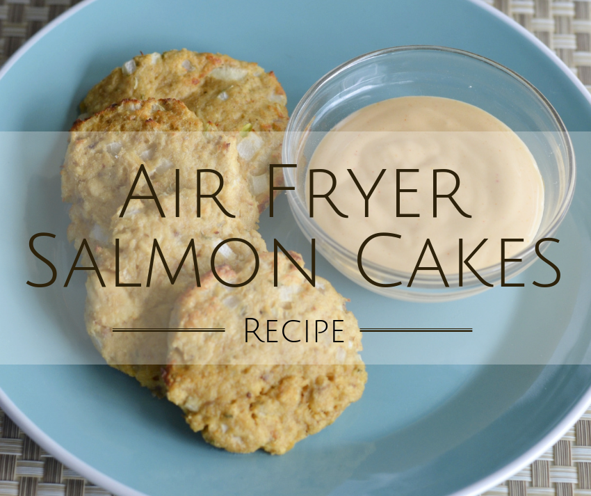 Air Fryer Salmon Cakes ~ #airfryer #recipe #salmoncakes #salmonpatties